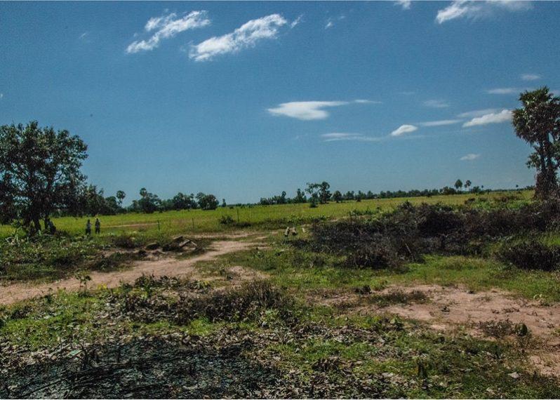 カンボジアの小学校建設地0日目の様子
