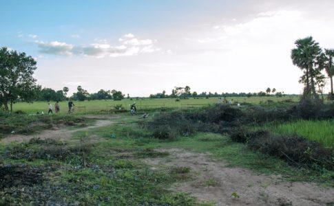 カンボジアの小学校建設地1日目