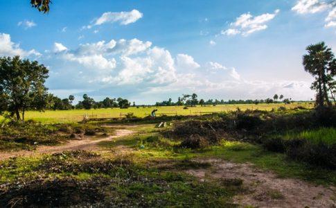 カンボジアの小学校建設地2日目