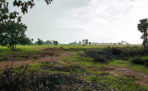 カンボジアの小学校建設地3日目