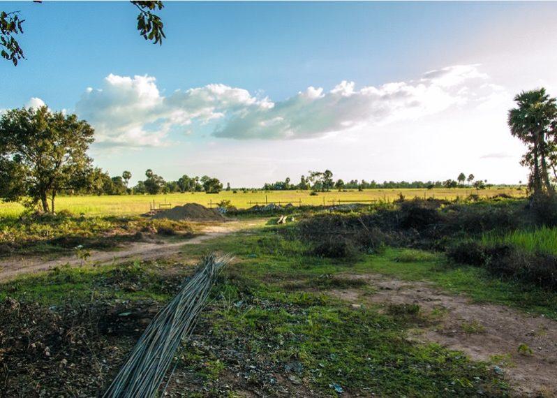カンボジアの小学校建設地5日目