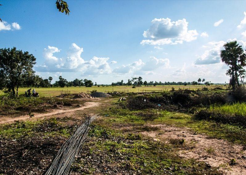 カンボジアの小学校建設地7日目の様子