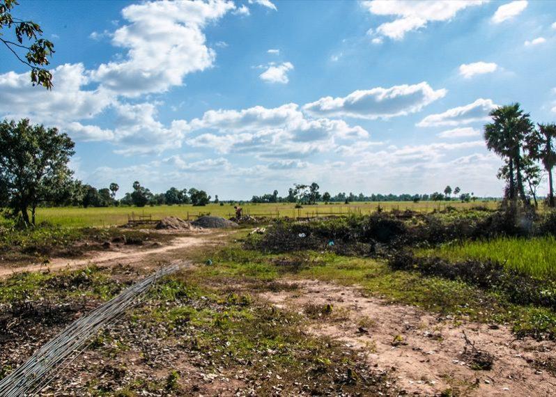 カンボジアの小学校建設地10日目の様子