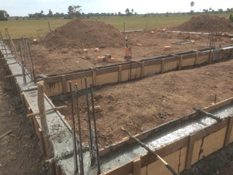 学校建設現場の様子