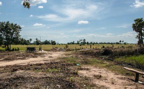 カンボジアの小学校建設地12日目の様子