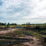 カンボジアの小学校建設地13日目の様子