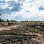 カンボジアの小学校建設地14日目の様子