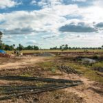 カンボジアの小学校建設地15日目の様子