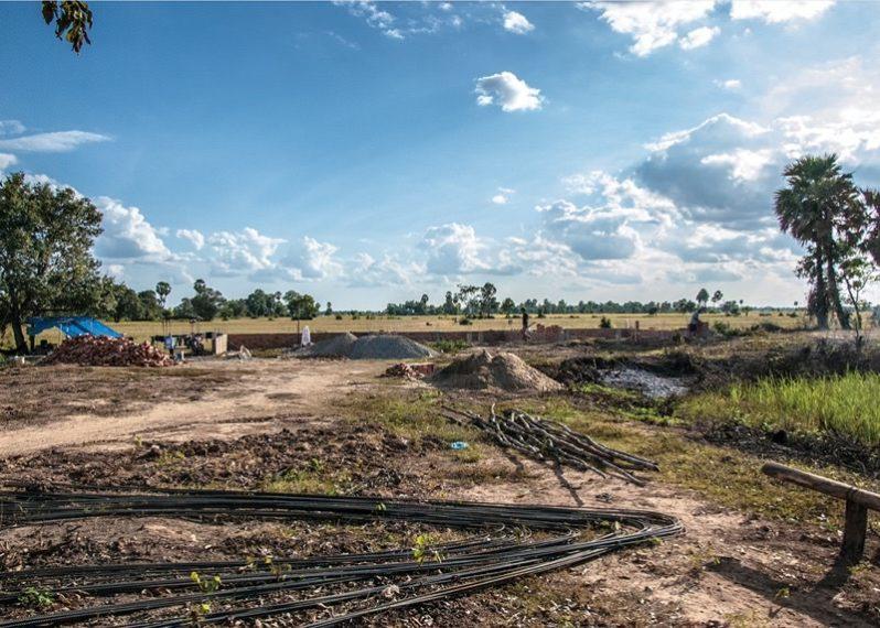 カンボジアの学校建設地17日目の様子
