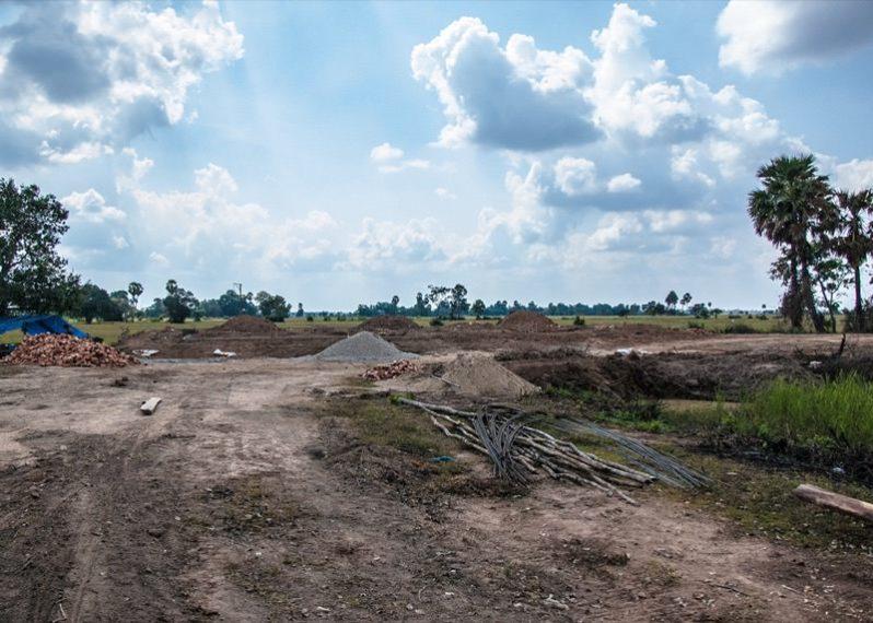 カンボジアの学校建設地20日目の様子