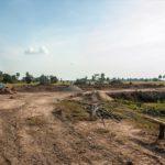 カンボジアの学校建設地21目の様子