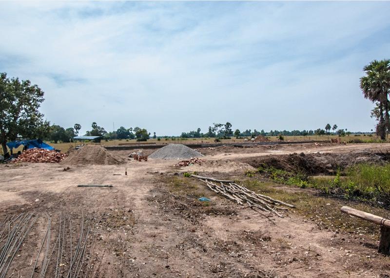 カンボジアの建設地25日目の様子