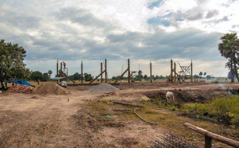カンボジアの学校建設地26日目の様子