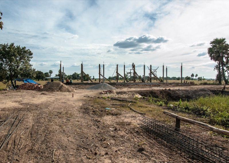 カンボジアの学校建設地27日目の様子