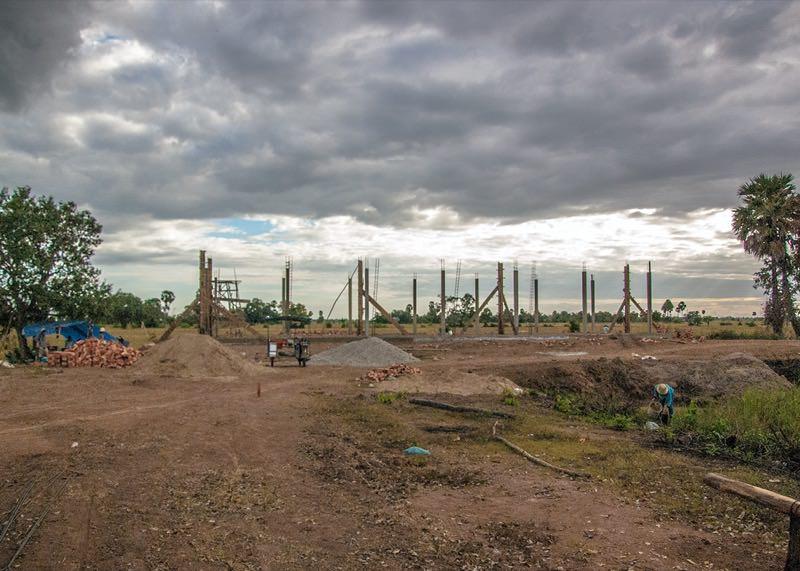 カンボジアの学校建設地28日目の様子