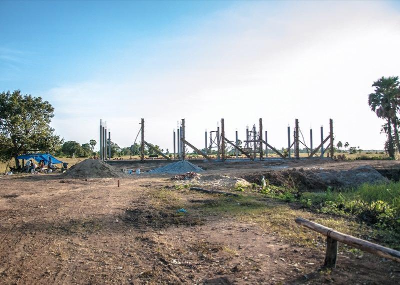 カンボジアの学校建設地29日目の様子