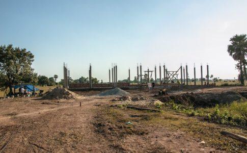 カンボジアの学校建設予定地の30日目の様子