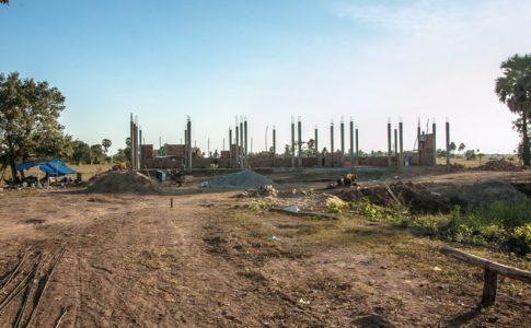 カンボジアの学校建設地31日目の様子
