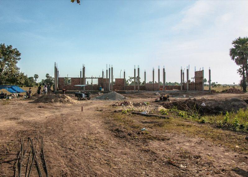 カンボジアの学校建設地32日目の様子