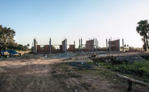 カンボジア学校建設地34日目の様子