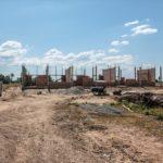 カンボジアの学校建設36日目の様子