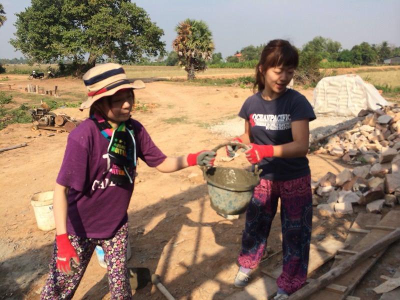 カンボジアにいるまりこ