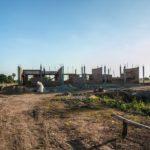 カンボジアの小学校建設地37日目の様子