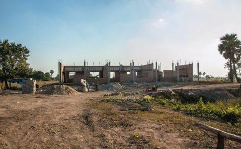 カンボジアの小学校建設地38日目の様子