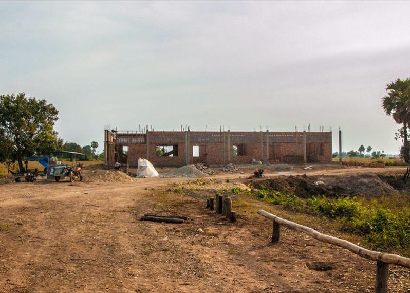 カンボジアの学校建設地41日目の様子
