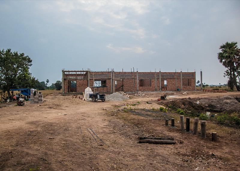 カンボジアの小学校建設予定地42日目の様子