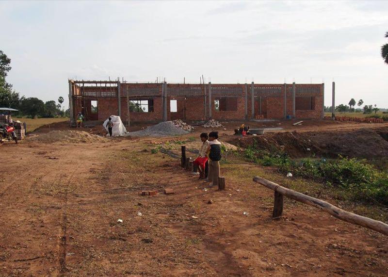 カンボジアの学校建設地44日目の様子