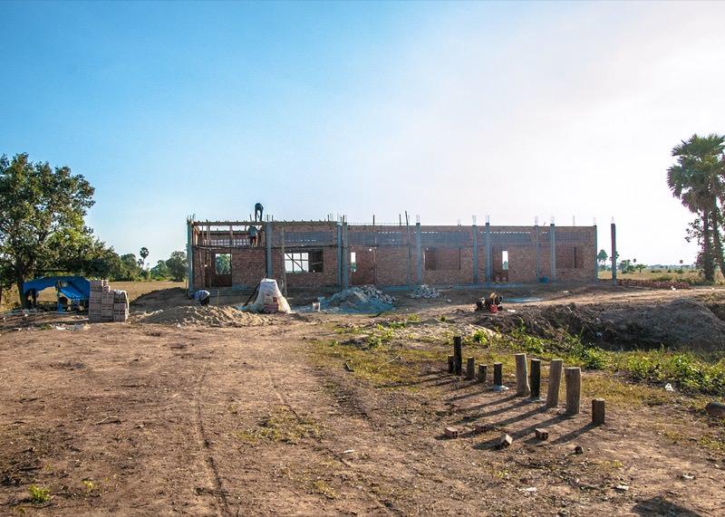 カンボジアの学校建設地45日目の様子