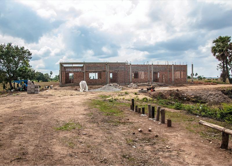 カンボジアの学校建設地49日目の様子