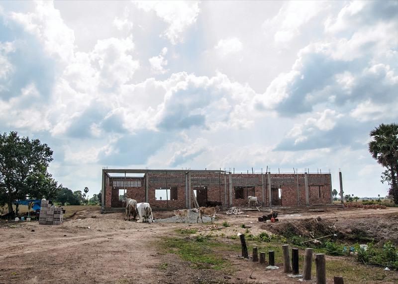 カンボジアの学校建設地50日目の様子
