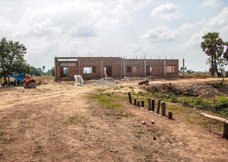 カンボジアの学校建設地51日目の様子