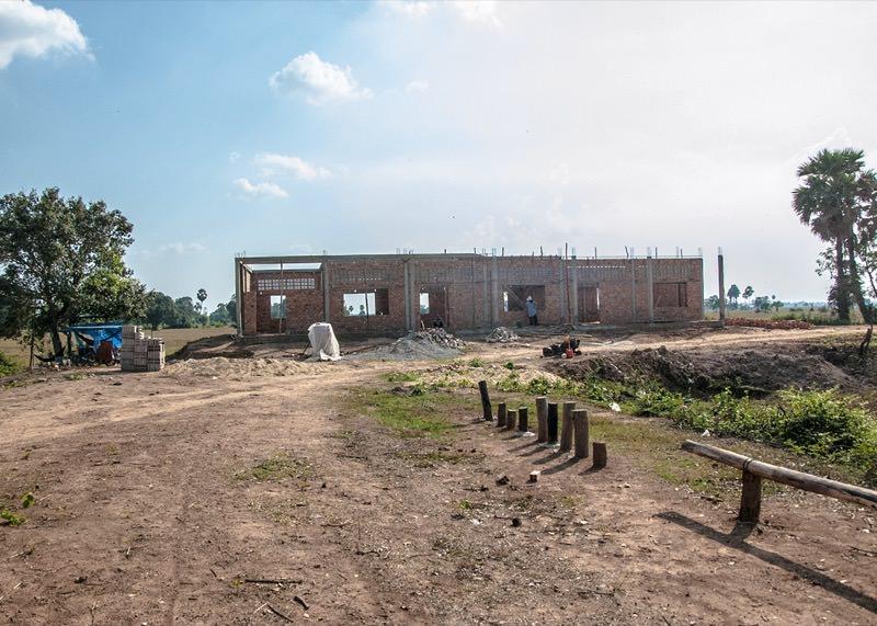 カンボジアの学校建設地52日目の様子