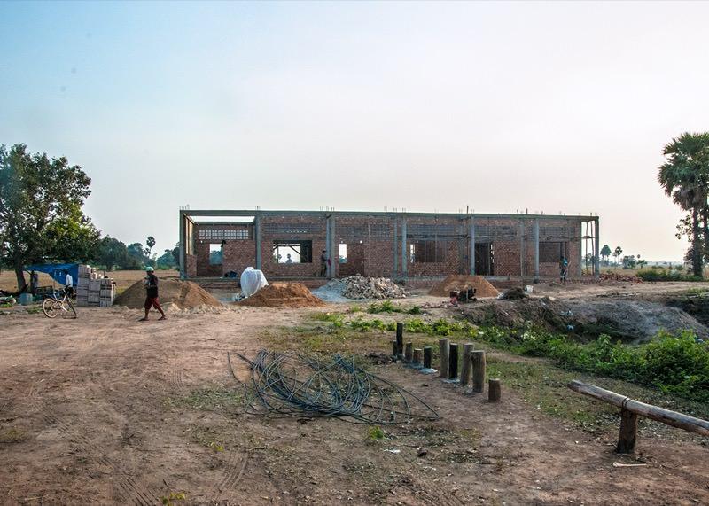 カンボジアの学校建設地58日目の様子