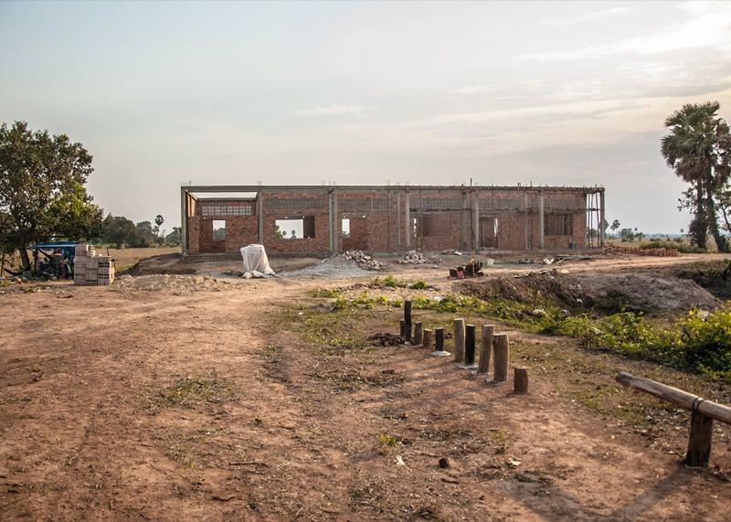 カンボジアの学校建設地55日目の様子