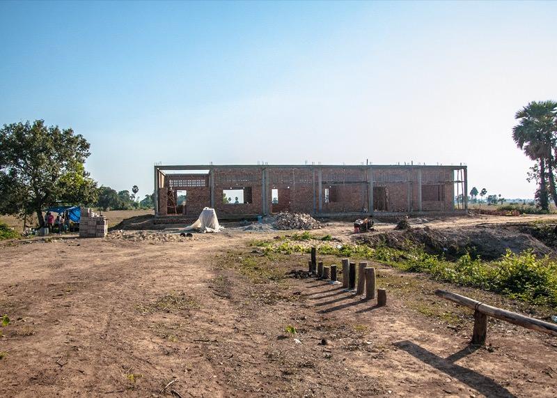 カンボジアの学校建設地56日目の様子