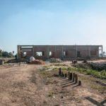 カンボジアの学校建設地57日目の様子