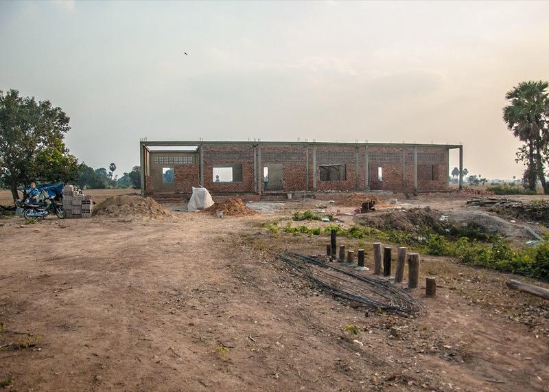 カンボジアの学校建設地62日目の様子