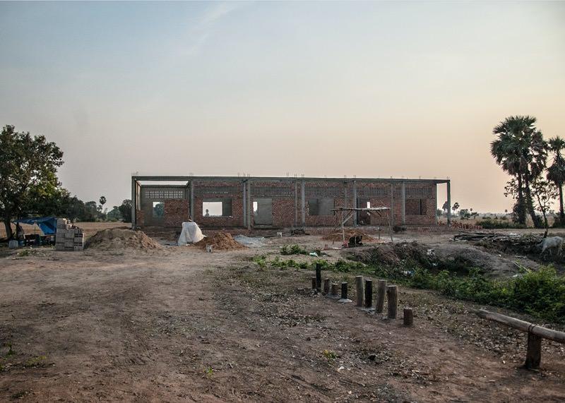 カンボジアの学校建設地63日目の様子