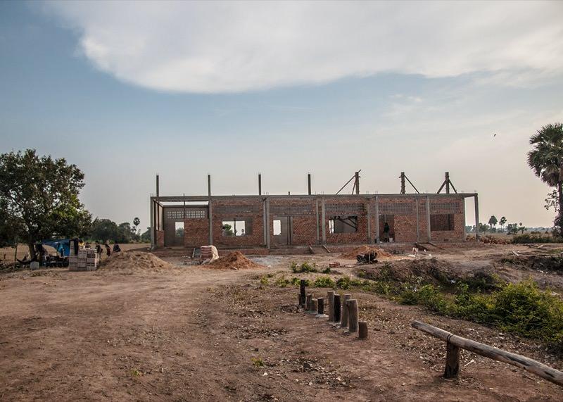 カンボジアの学校建設地65日目の様子