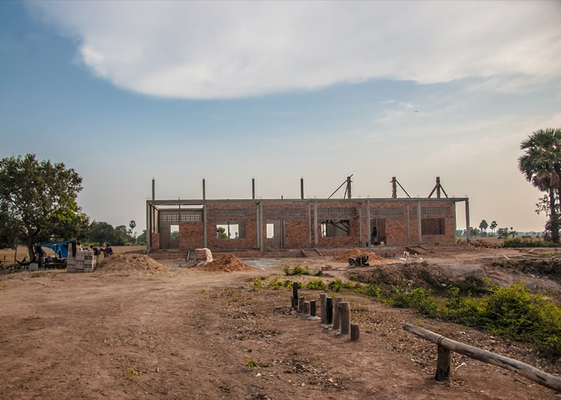 カンボジアの学校建設地66日目の様子
