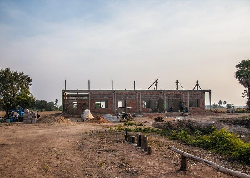 カンボジアの学校建設地67日目の様子