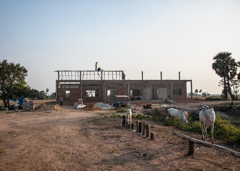 カンボジアの学校建設地68日目の様子