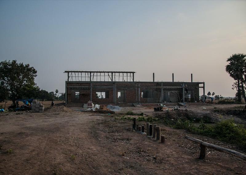 カンボジアの学校建設地69日目の様子