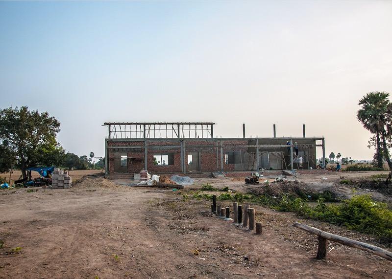 カンボジアの学校建設地70日目の様子