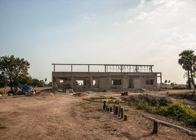カンボジアの学校建設地71日目の様子