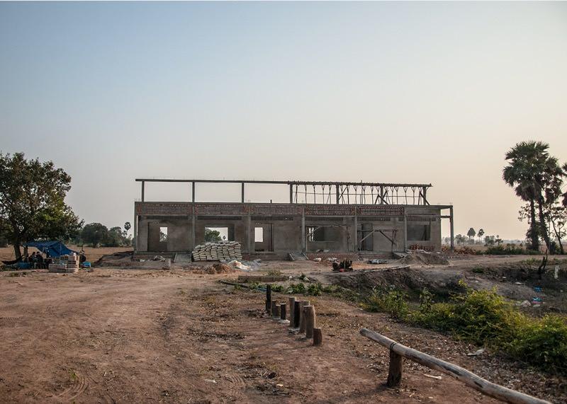 カンボジアの学校建設地72日目の様子